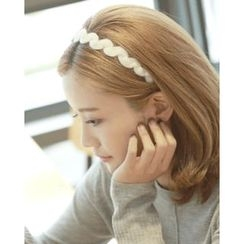 Miss21 Korea - Furry-Knit Hair Band