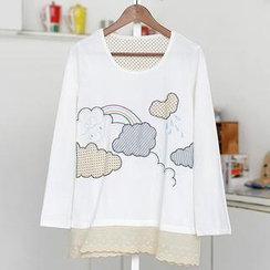 59 Seconds - Cloud Appliqué Tunic