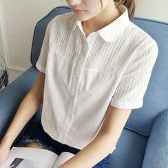 EFO - 短袖打褶裥衬衫