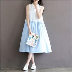 Clover Dream - Panel Sleeveless Chiffon Dress