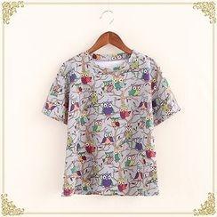 Fairyland - Owl Print Short-Sleeve T-Shirt