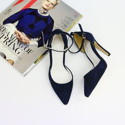 NANING9 - Pointy Ankle-Strap Pumps