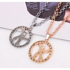 KINNO - Rhinestone Pendant Necklace