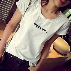 Glen Glam - Letter Short-Sleeve T-shirt