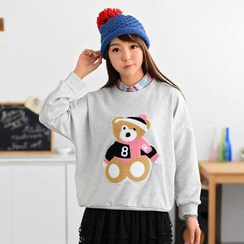59 Seconds - Bear Appliqué Pullover