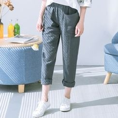 Bonbon - Band Waist Tapered Pants