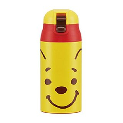 Skater - Winnie the Pooh One Push Stainless Mug Bottle (Face)
