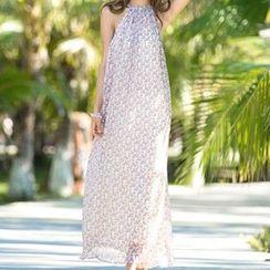 Jolly Club - Sleeveless Printed Maxi Dress