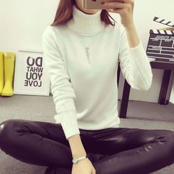 Sienne - Cable-Knit Turtleneck Sweater