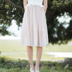 Sens Collection - Pleated Chiffon Skirt
