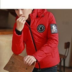 Bay Go Mall - Applique Hooded Down Coat