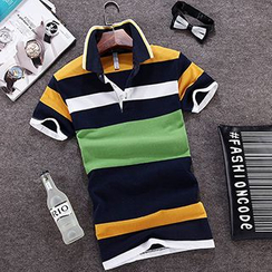Evzen - Stripe Short-Sleeve Polo