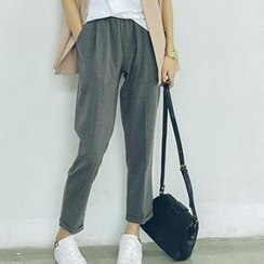 Eva Fashion - Drawcord Baggy Pants