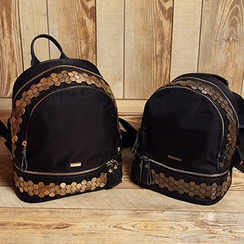 MooMoo Bags - Studded Genuine Leather Backpack