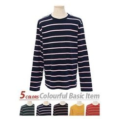 HOTBOOM - Long-Sleeve Striped T-Shirt