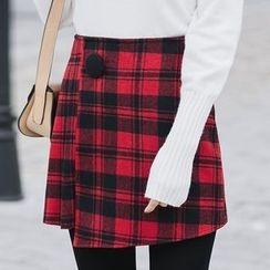 ume ume - Plaid A-line Skirt