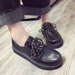 Charming Kicks - Platform Lace-Up Shoes