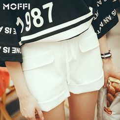 MOFFI - Faux Leather Shorts