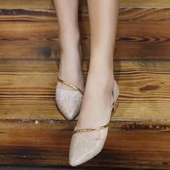 MANMANNI - Pointy-Toe Paneled Flats