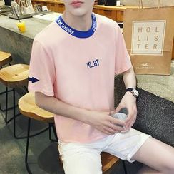 ZZP HOMME - Short-Sleeve Embroidered T-Shirt