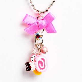 Sweet & Co. - Neon Pink Swiss Roll Necklace