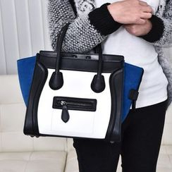 Youme - Color Block Tote with Shoulder Strap