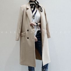 NANING9 - Double-Breasted Long Jacket