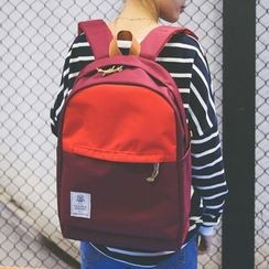 Youme - Color Block Canvas Backpack