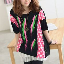59 Seconds - Mixed Print Tunic