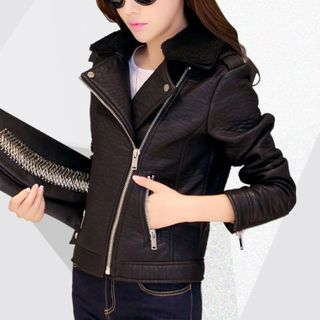Cobogarden - Faux Leather Biker Jacket