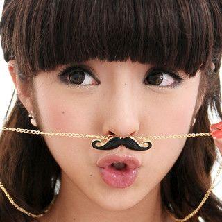 59 Seconds - Mustache Necklace