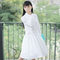 tete - Drawstring Shirtdress