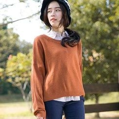 CatWorld - Textured Cropped Sweater