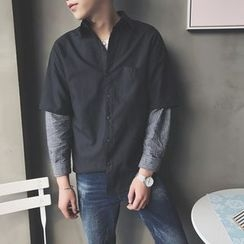 Soulcity - Mock Two-piece Long-Sleeve Shirt