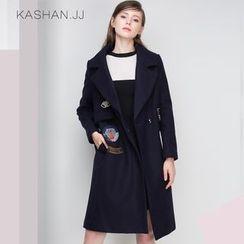 KASHAN - Wool Blend Embroidery Coat