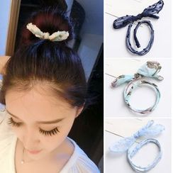 Gold Beam - Hair Bun Bow Tie