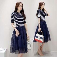Romantica - Mock Two-Piece Dress