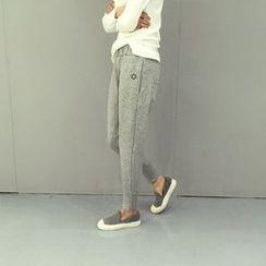 YOSH - 星星印花束腰運動褲