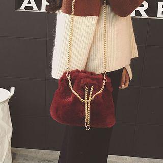 Clair Fashion - Faux-Fur Shoulder Bag
