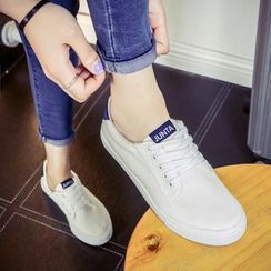 Solejoy - Lace-Up Canvas Sneakers