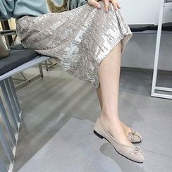 MARSHMALLOW - Glitter-Stitched Velvet Skirt