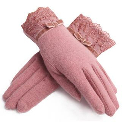 RGLT Scarves - Lace-Cuff Fleece-Lined Gloves