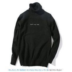 Blueforce - Lettering Turtleneck Sweater