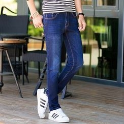Denimic - Washed Straight Leg Jeans