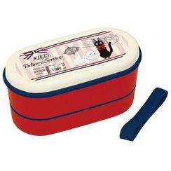 Skater - Kiki's Delivery Service Oval 2 Layer Lunch Box (Airmail) (with Chopsticks)