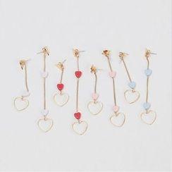 icecream12 - Heart Drop Earrings