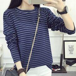 Fashion Street - Pinstriped Long Sleeve T-Shirt