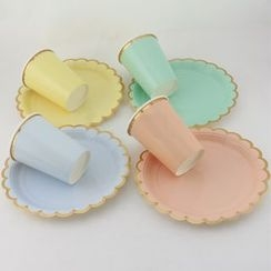 Palmy Parties - Scallop Disposable Plates & Cups