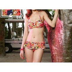 Jumei - Floral Ruffle Bikini