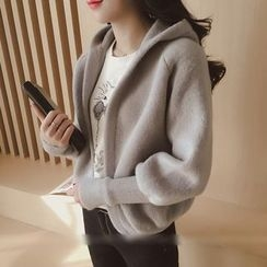 Hibisco - Hooded Thick Knit Jacket